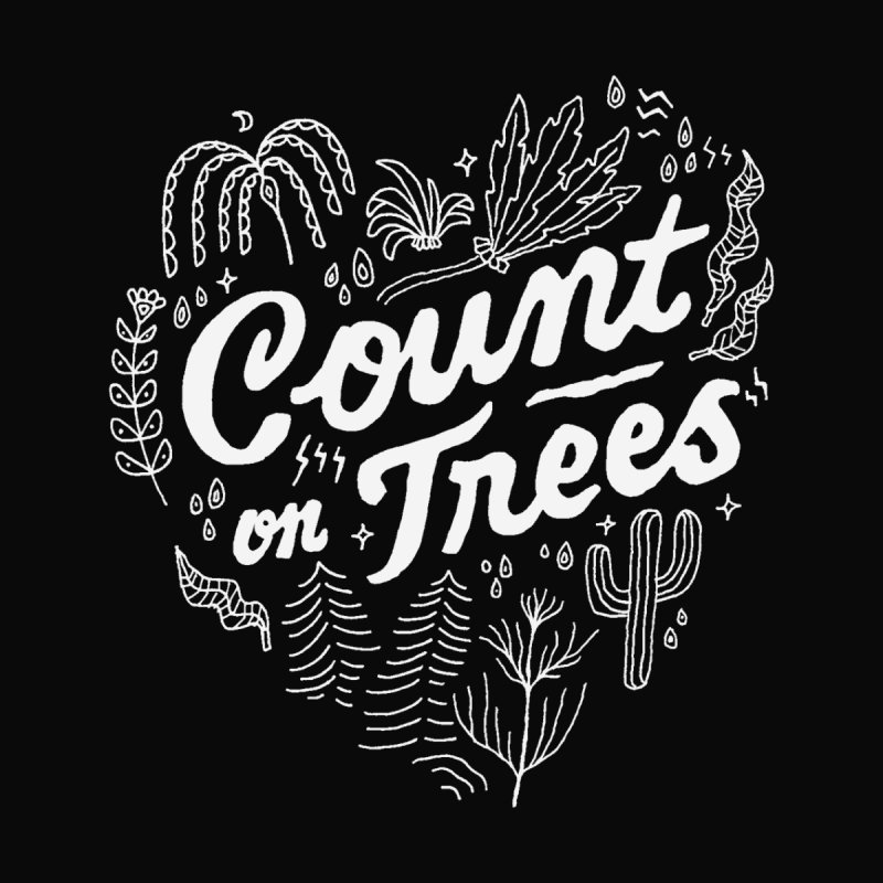 Count on Trees Home Rug by Tatak Waskitho