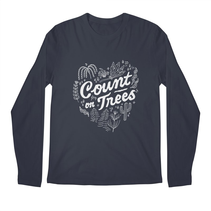 Count on Trees Men's Regular Longsleeve T-Shirt by Tatak Waskitho