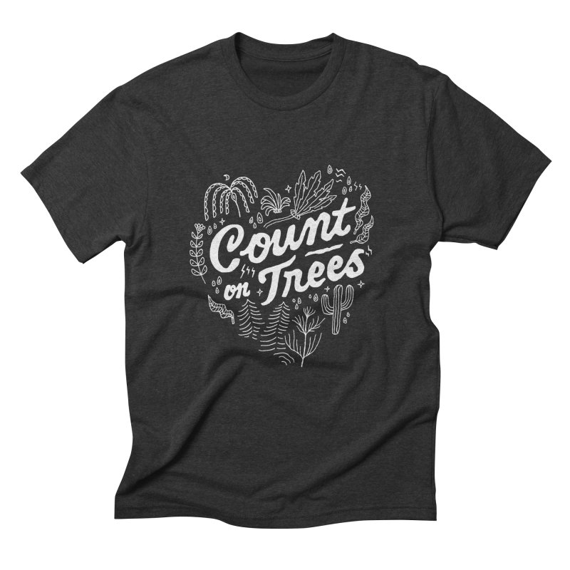 Count on Trees Men's Triblend T-Shirt by Tatak Waskitho