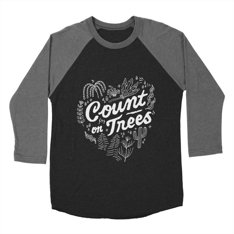 Count on Trees Men's Baseball Triblend Longsleeve T-Shirt by Tatak Waskitho