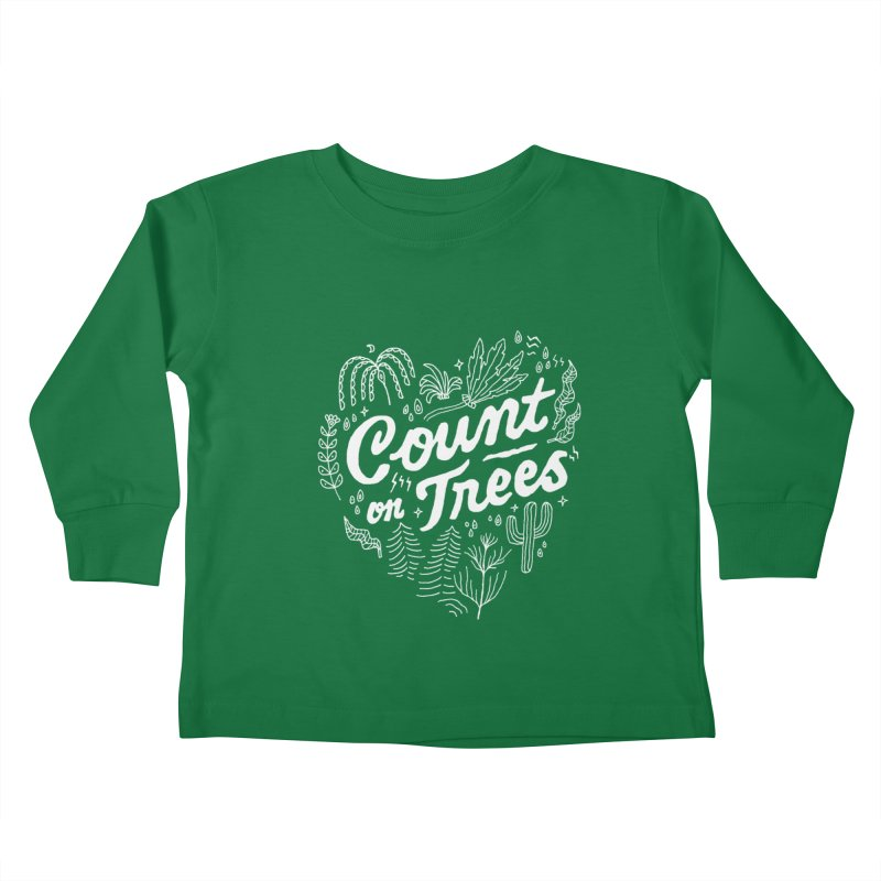 Count on Trees Kids Toddler Longsleeve T-Shirt by Tatak Waskitho