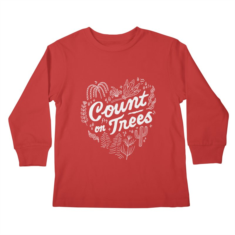 Count on Trees Kids Longsleeve T-Shirt by Tatak Waskitho