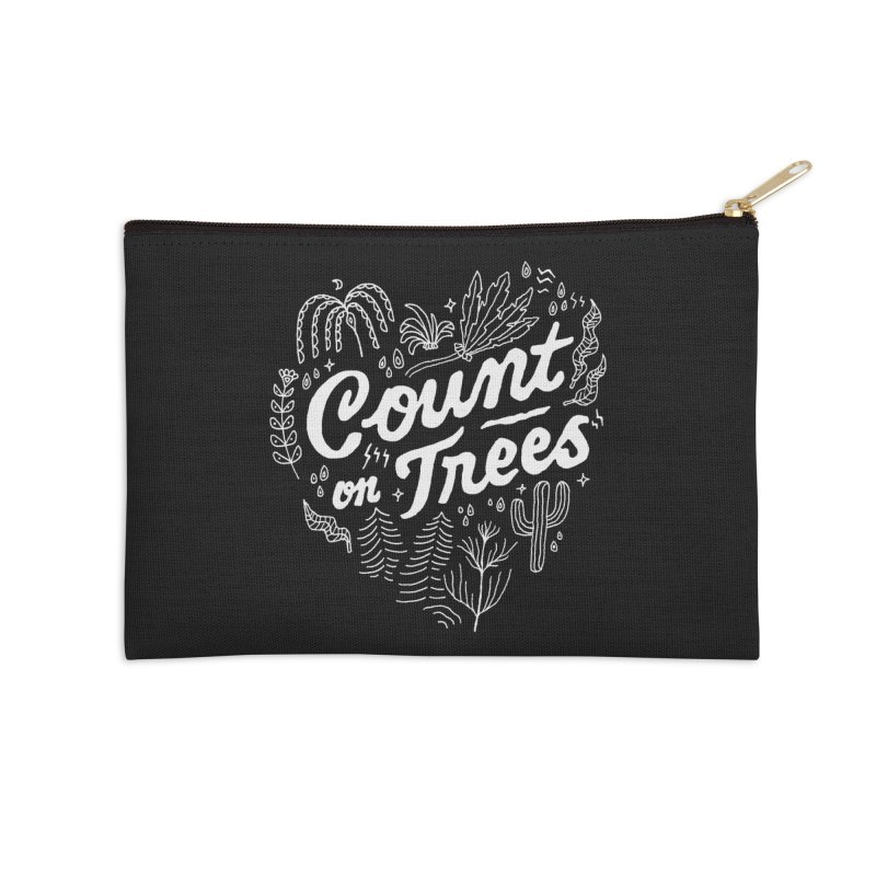 Count on Trees Accessories Zip Pouch by Tatak Waskitho