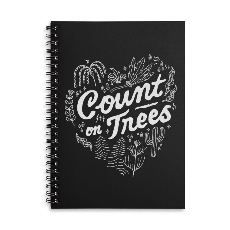 Count on Trees Accessories Lined Spiral Notebook by Tatak Waskitho