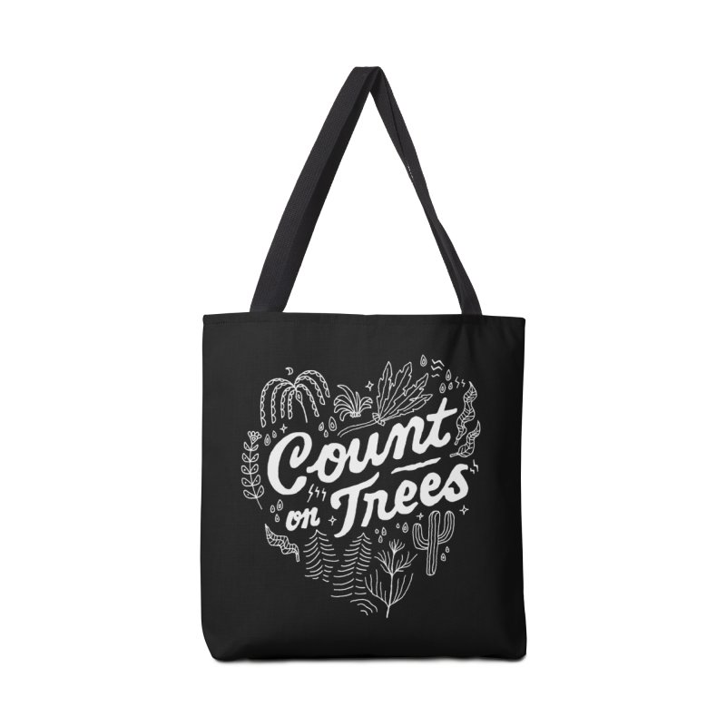 Count on Trees Accessories Bag by skitchism's Artist Shop