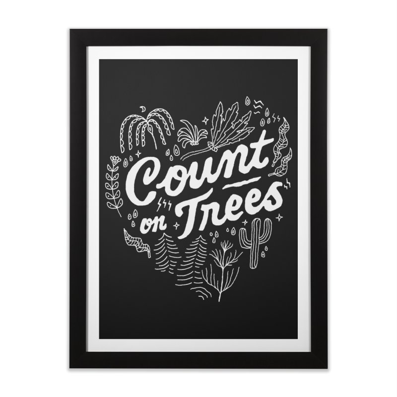 Count on Trees Home Framed Fine Art Print by Tatak Waskitho