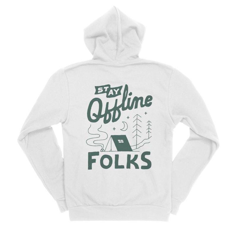 Stay Offline Men's Sponge Fleece Zip-Up Hoody by skitchism's Artist Shop