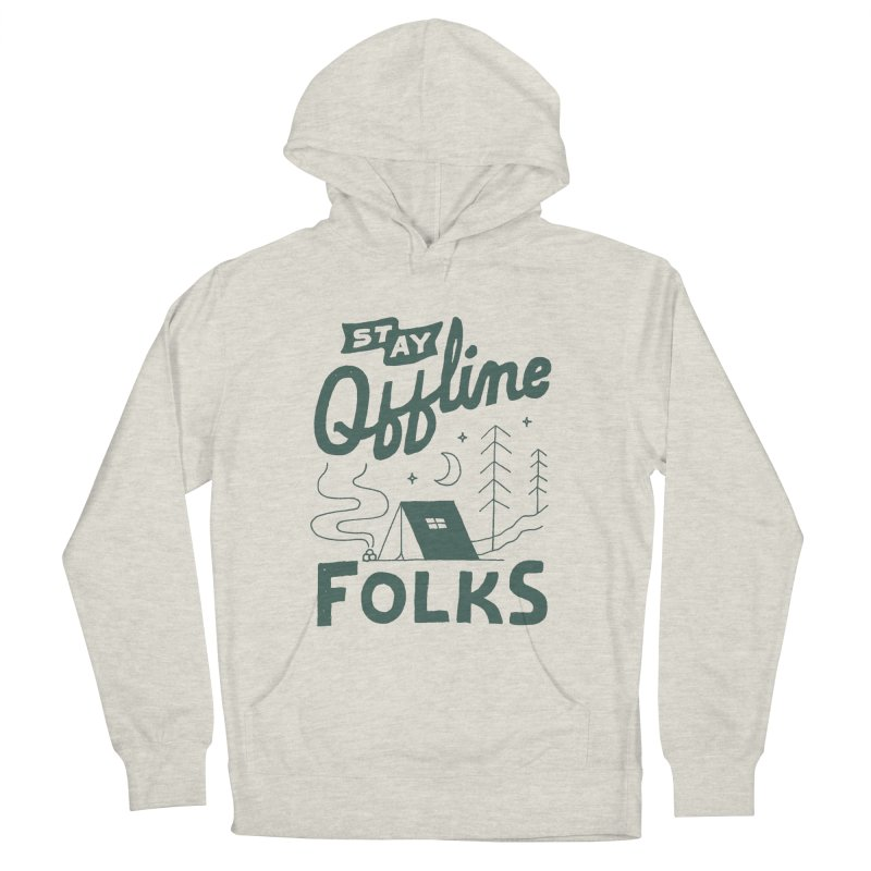 Stay Offline Men's French Terry Pullover Hoody by Tatak Waskitho