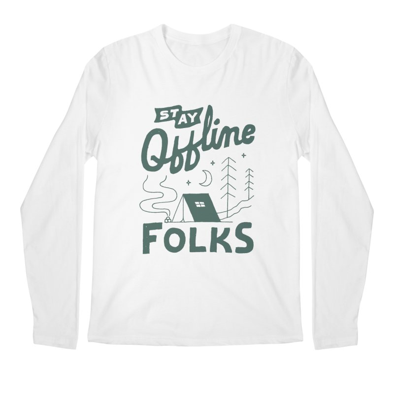 Stay Offline Men's Regular Longsleeve T-Shirt by Tatak Waskitho