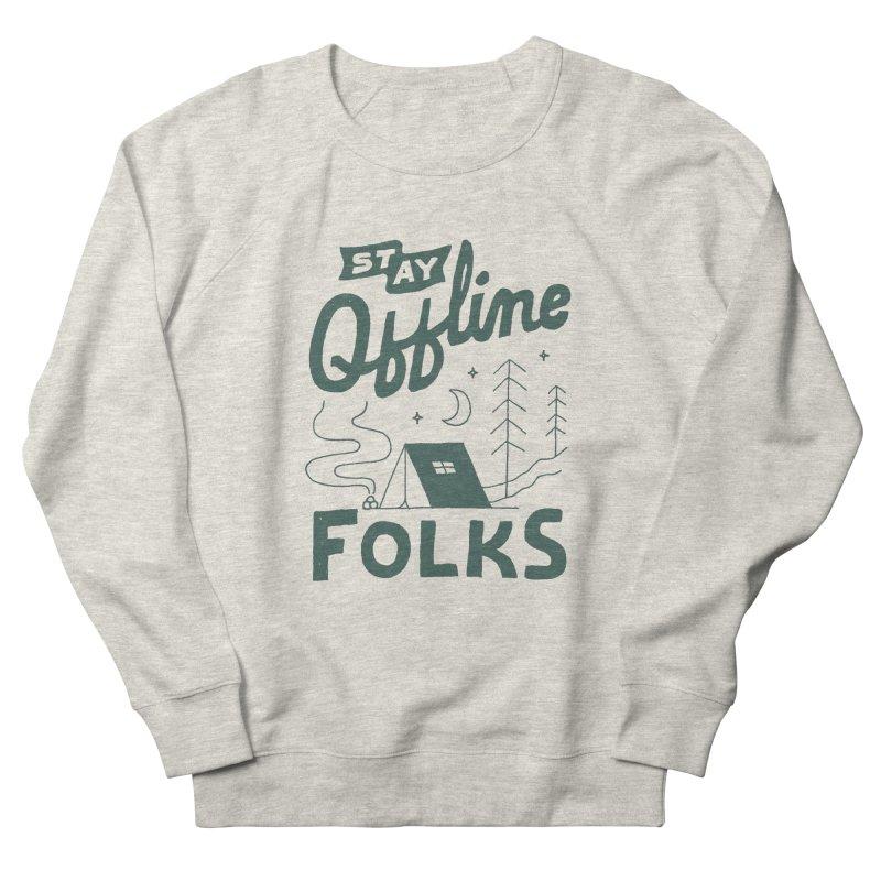 Stay Offline Men's French Terry Sweatshirt by Tatak Waskitho