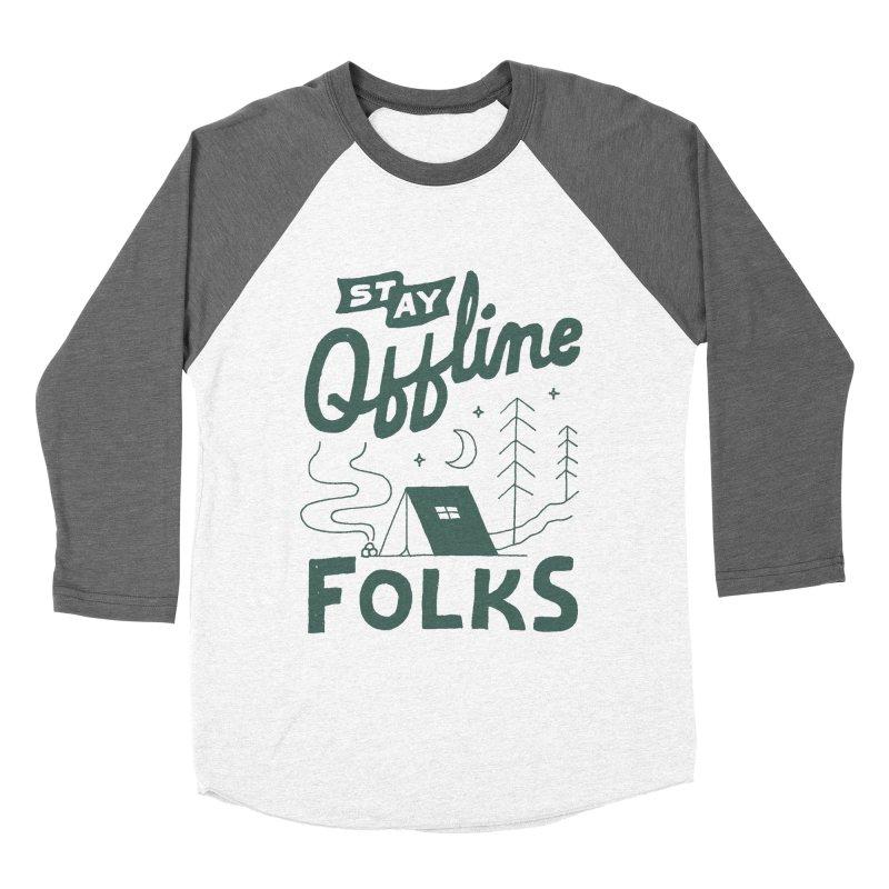 Stay Offline Women's Baseball Triblend Longsleeve T-Shirt by skitchism's Artist Shop
