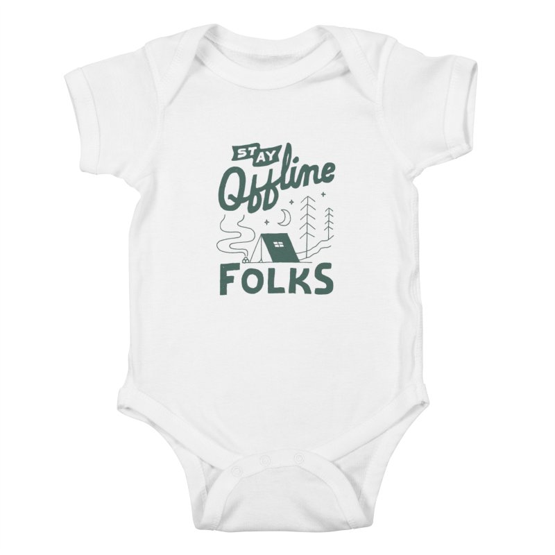 Stay Offline Kids Baby Bodysuit by Tatak Waskitho