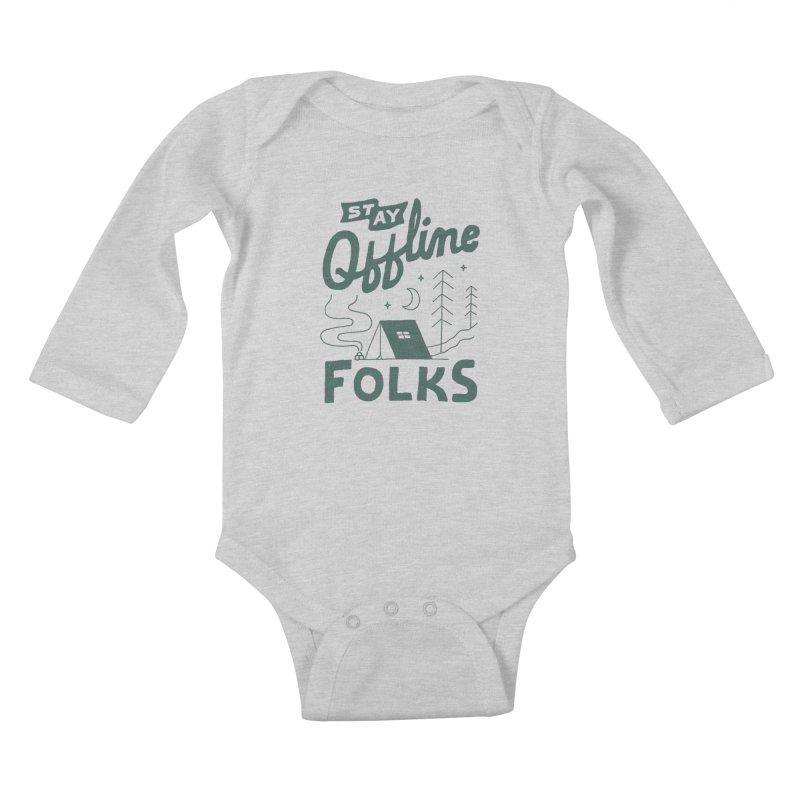 Stay Offline Kids Baby Longsleeve Bodysuit by Tatak Waskitho