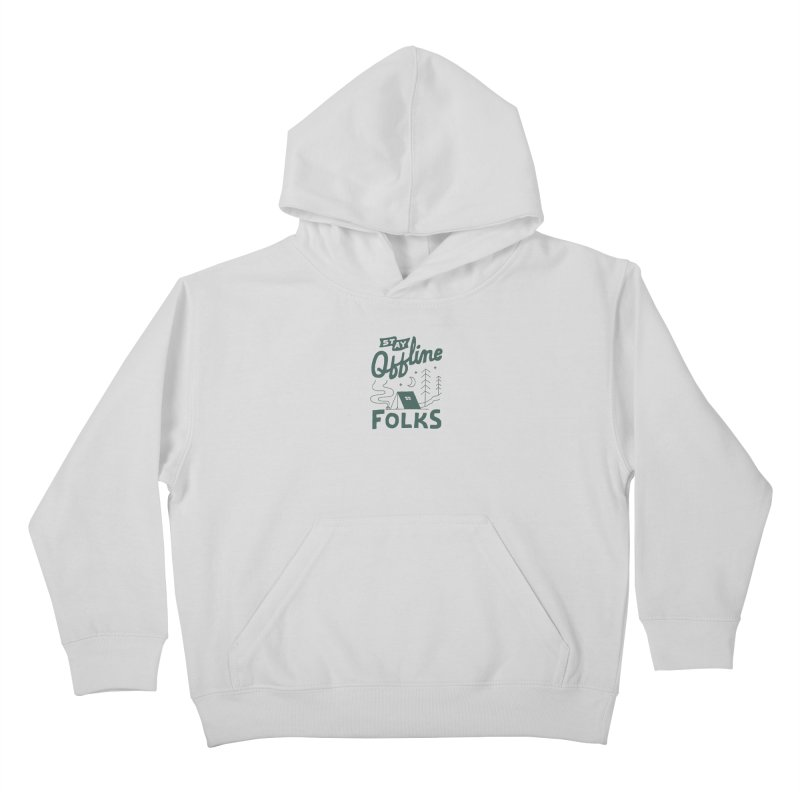 Stay Offline Kids Pullover Hoody by Tatak Waskitho