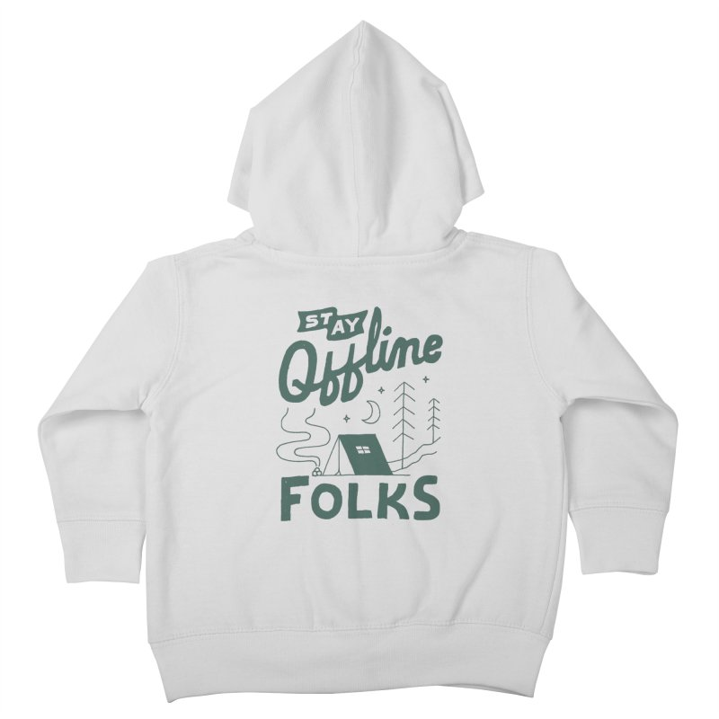 Stay Offline Kids Toddler Zip-Up Hoody by Tatak Waskitho