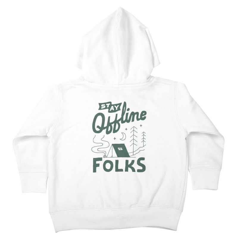 Stay Offline Kids Toddler Zip-Up Hoody by Tatak Waskitho