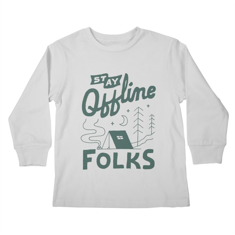 Stay Offline Kids Longsleeve T-Shirt by Tatak Waskitho