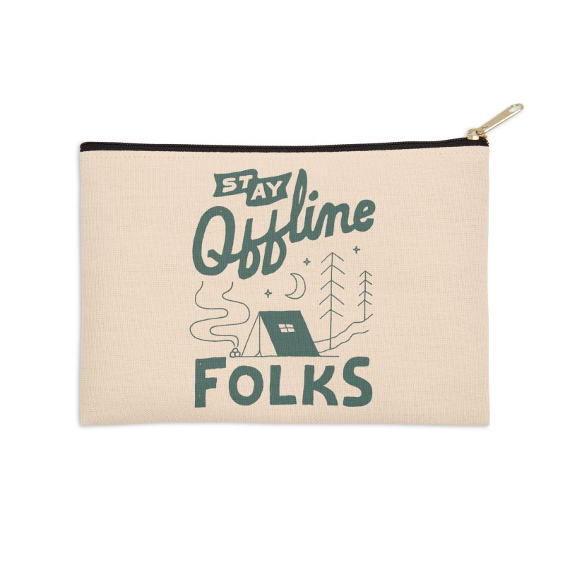 Stay Offline Accessories Zip Pouch by Tatak Waskitho