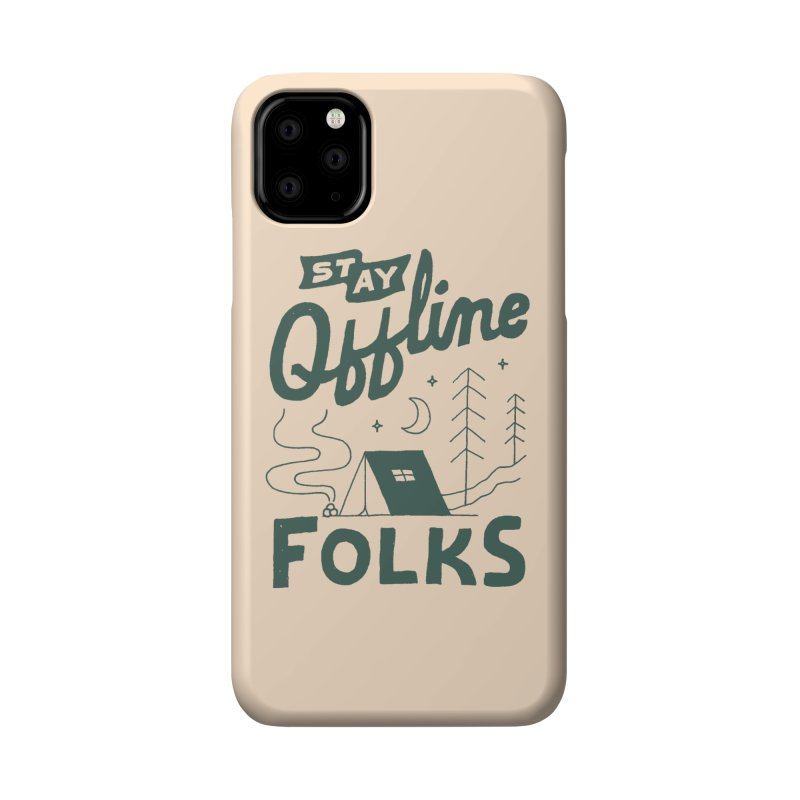 Stay Offline Accessories Phone Case by Tatak Waskitho