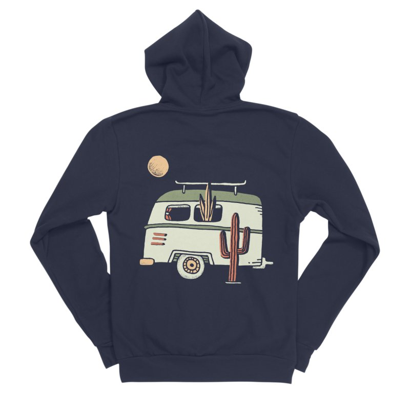 Van Life Men's Sponge Fleece Zip-Up Hoody by skitchism's Artist Shop