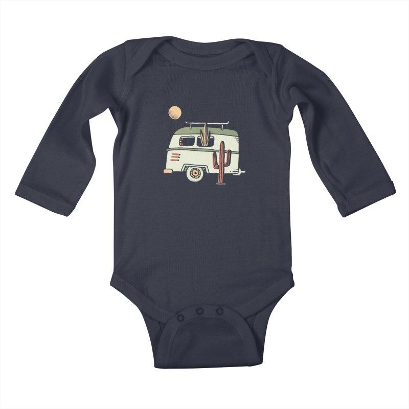 Van Life Kids Baby Longsleeve Bodysuit by Tatak Waskitho