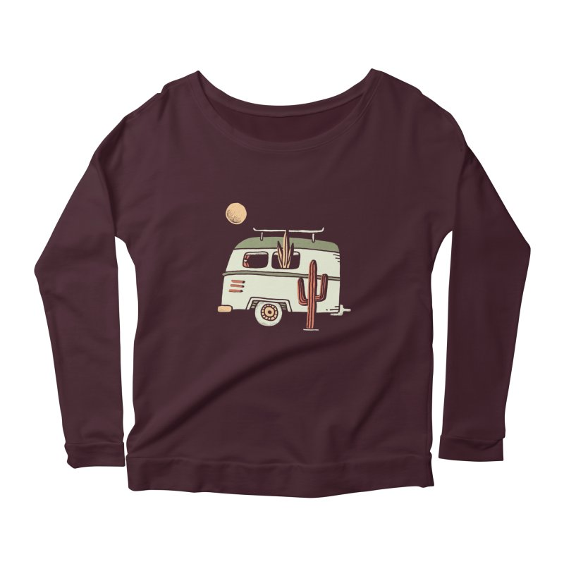 Van Life Women's Scoop Neck Longsleeve T-Shirt by Tatak Waskitho