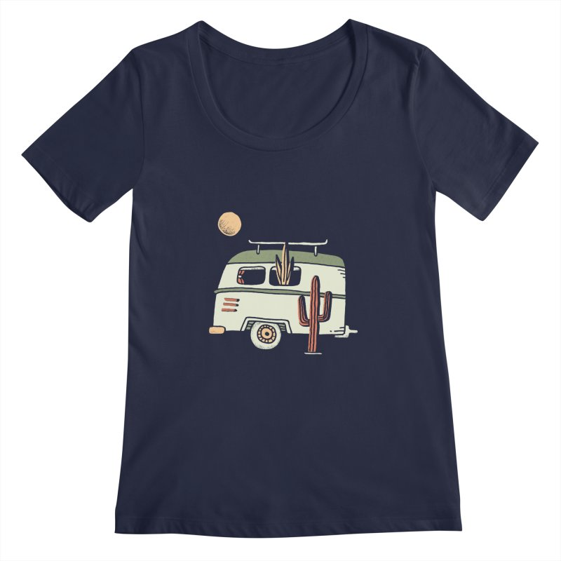 Van Life Women's Regular Scoop Neck by skitchism's Artist Shop