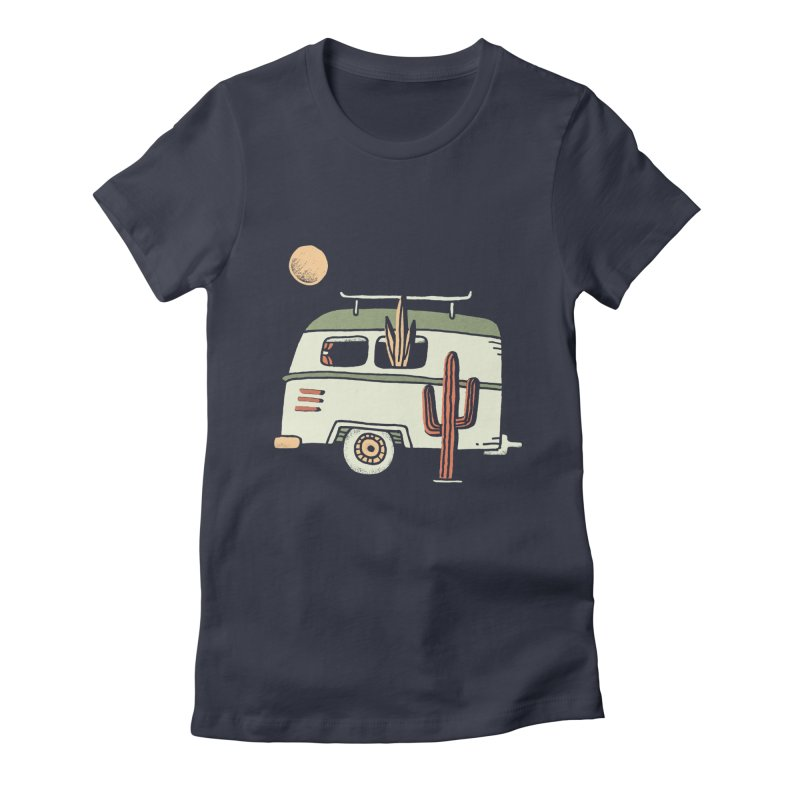 Van Life Women's Fitted T-Shirt by Tatak Waskitho