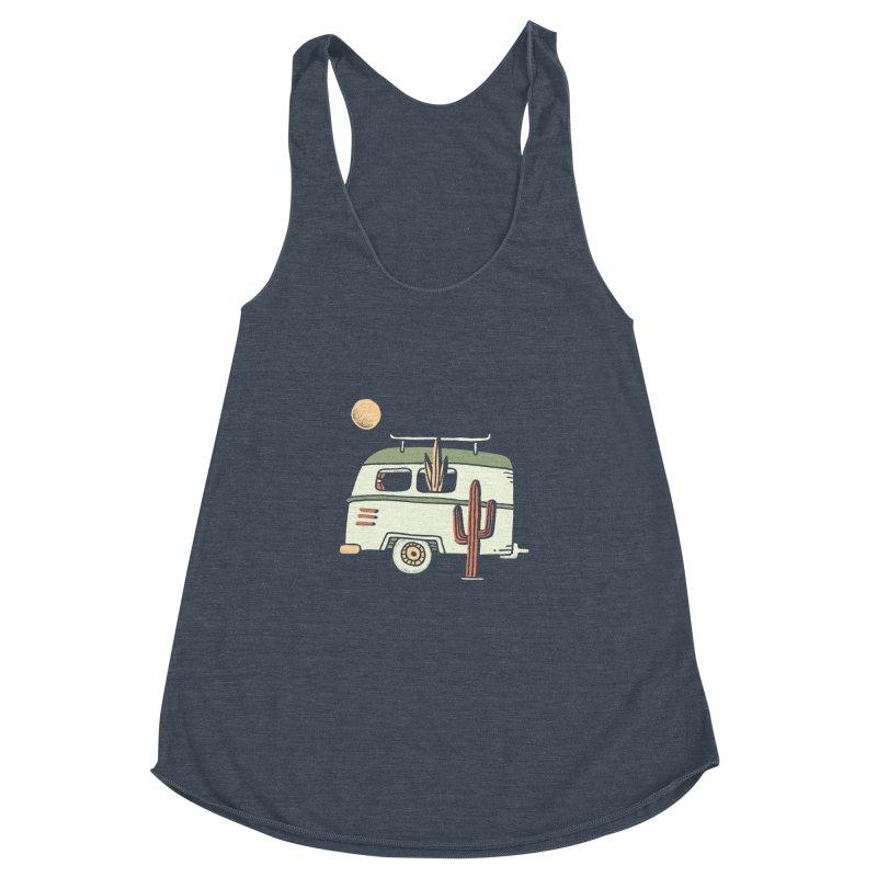 Van Life Women's Racerback Triblend Tank by skitchism's Artist Shop