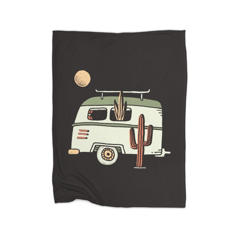 Van Life Home Fleece Blanket Blanket by Tatak Waskitho