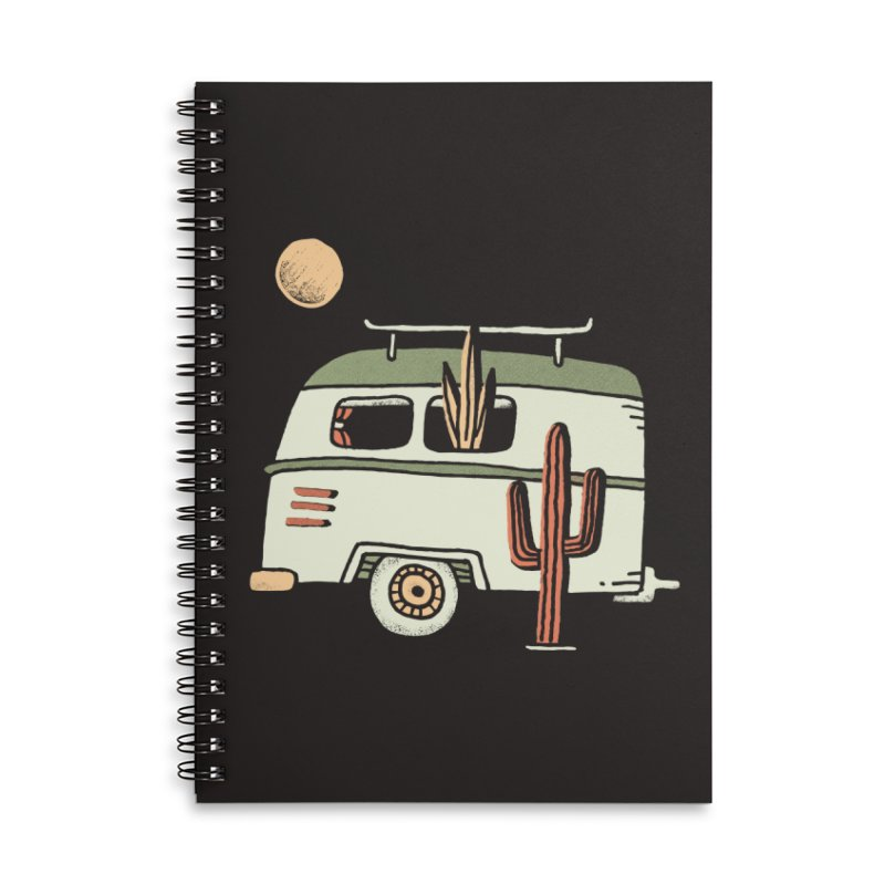Van Life Accessories Lined Spiral Notebook by Tatak Waskitho