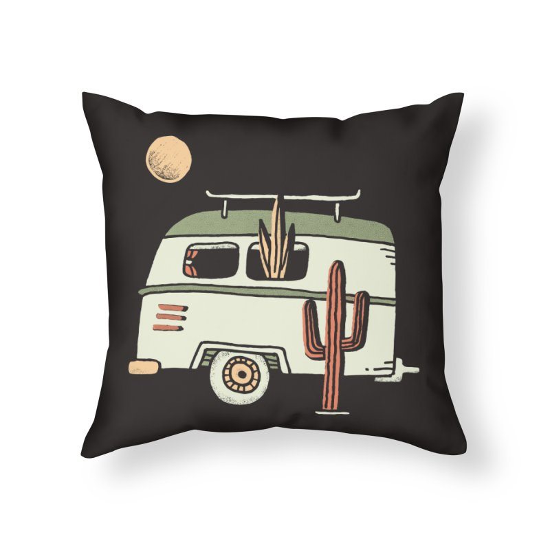 Van Life Home Throw Pillow by skitchism's Artist Shop