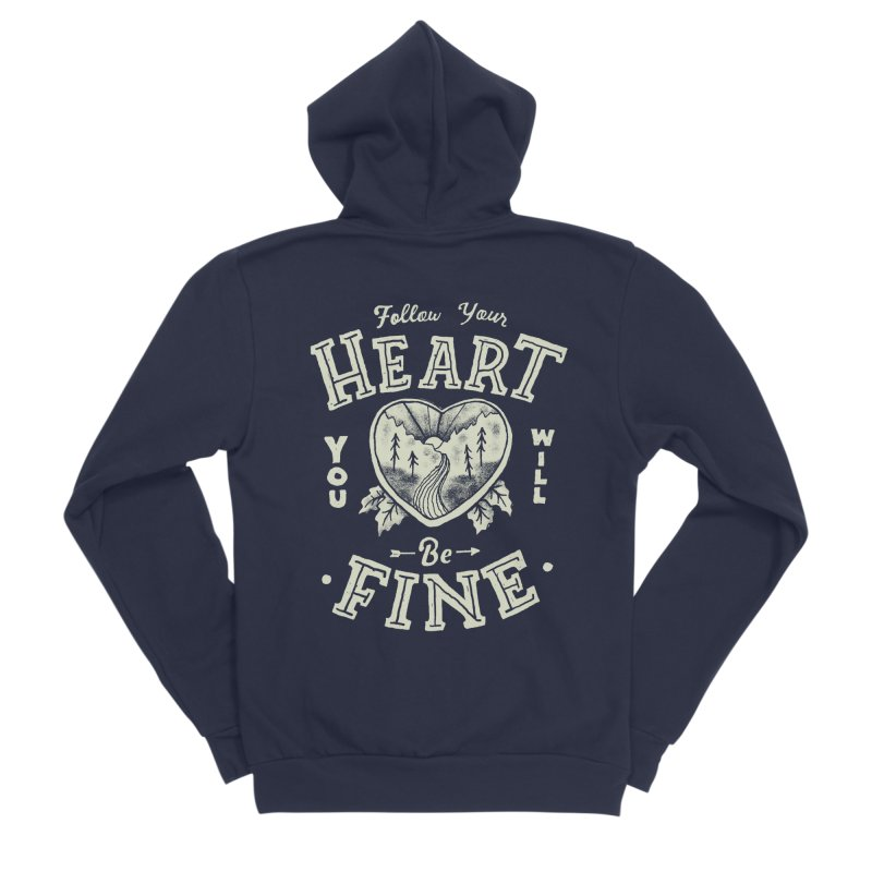 You'll be Fine Men's Sponge Fleece Zip-Up Hoody by skitchism's Artist Shop