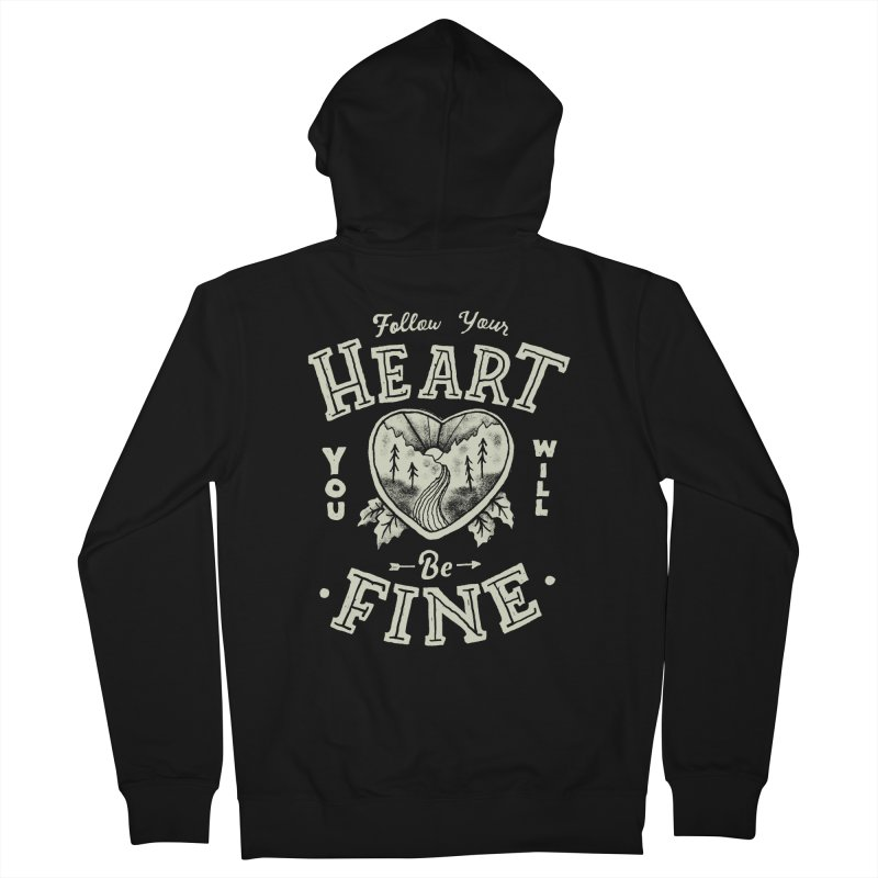You'll be Fine Men's French Terry Zip-Up Hoody by Tatak Waskitho