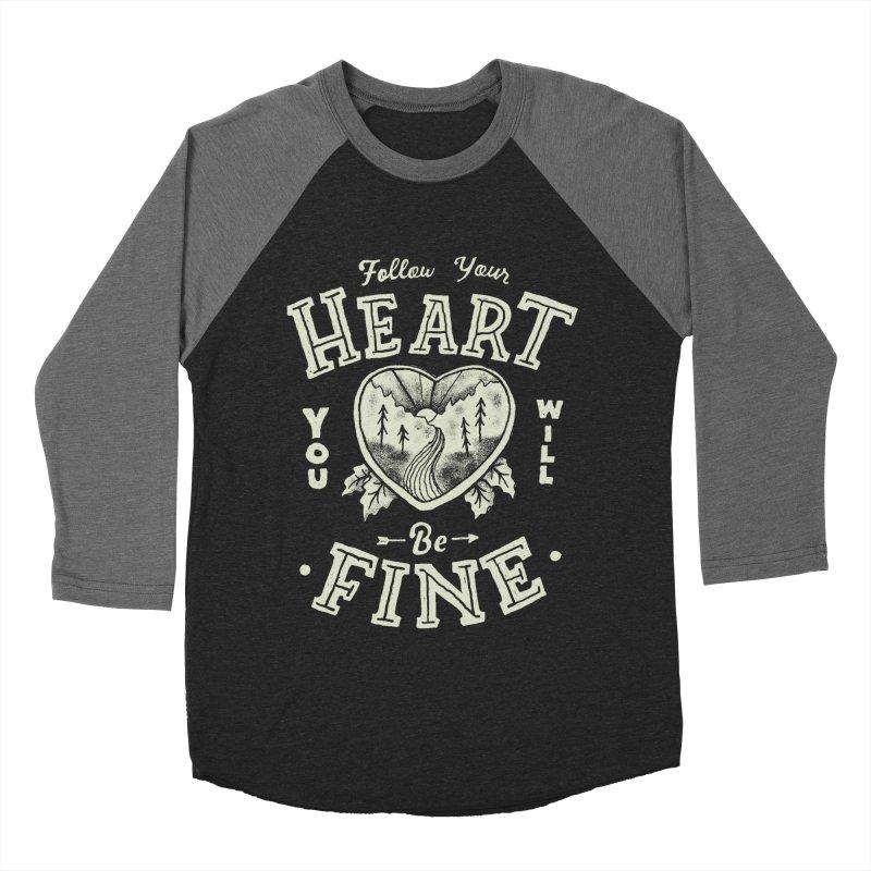 You'll be Fine Men's Baseball Triblend Longsleeve T-Shirt by Tatak Waskitho