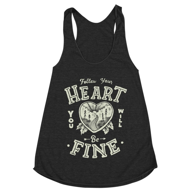 You'll be Fine Women's Racerback Triblend Tank by Tatak Waskitho