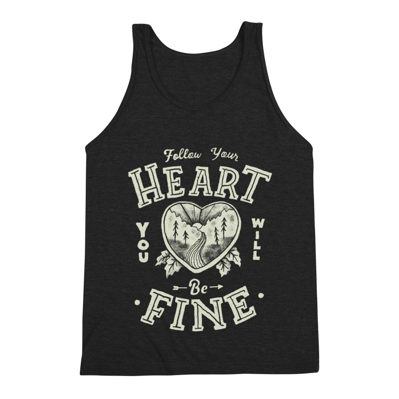 You'll be Fine Men's Triblend Tank by Tatak Waskitho