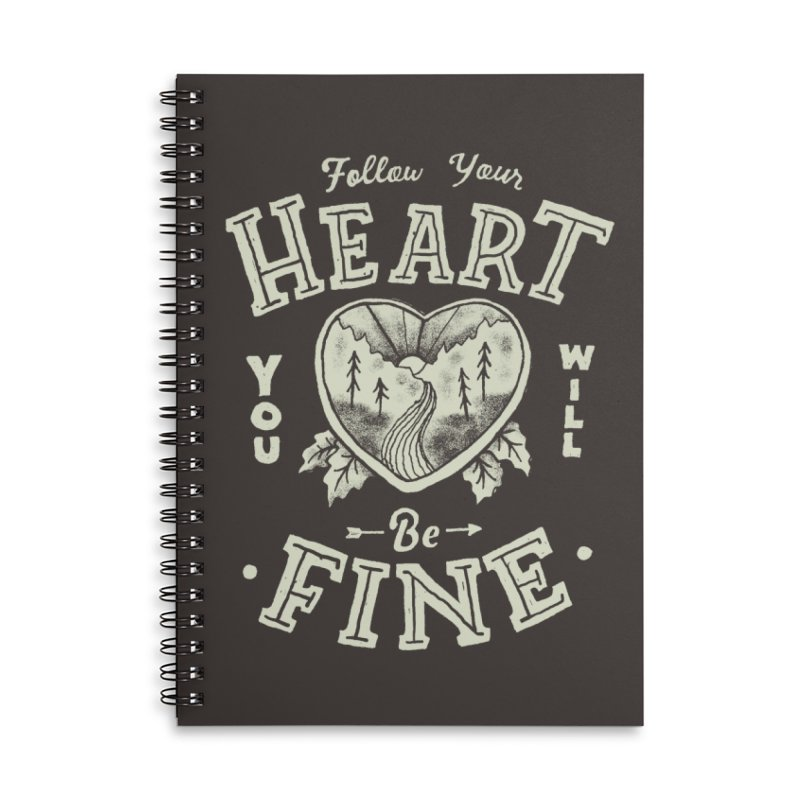 You'll be Fine Accessories Lined Spiral Notebook by Tatak Waskitho