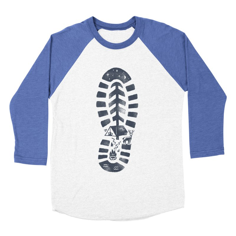 Wild Step Women's Baseball Triblend Longsleeve T-Shirt by Tatak Waskitho