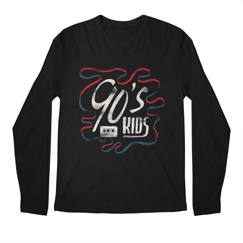 90s Kids Men's Regular Longsleeve T-Shirt by skitchism's Artist Shop