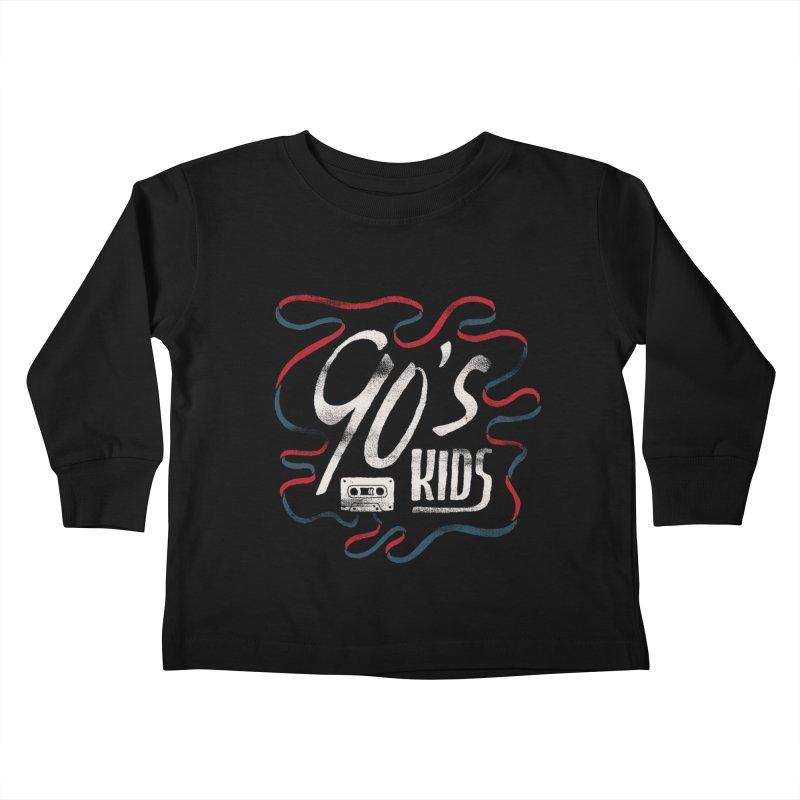 90s Kids Kids Toddler Longsleeve T-Shirt by skitchism's Artist Shop