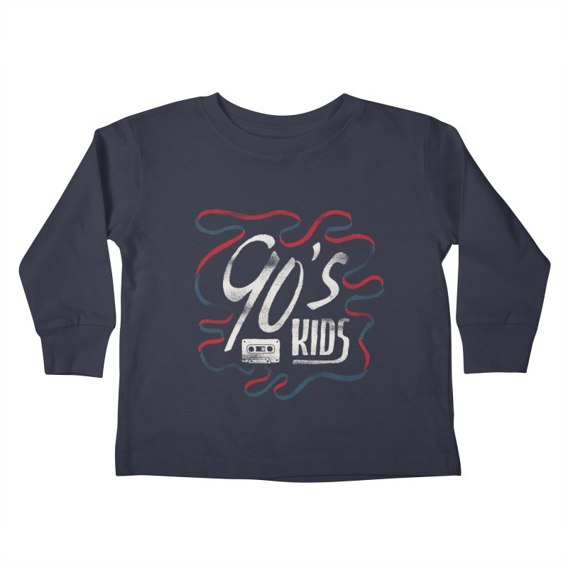 90s Kids Kids Toddler Longsleeve T-Shirt by skitchism's Artist Shop