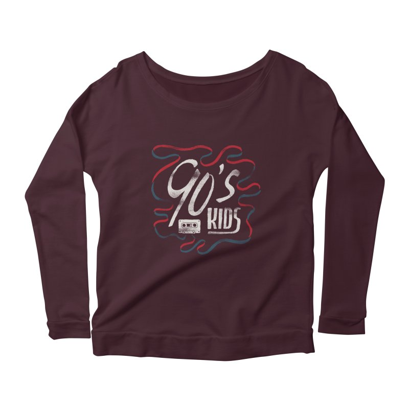 90s Kids Women's Scoop Neck Longsleeve T-Shirt by skitchism's Artist Shop