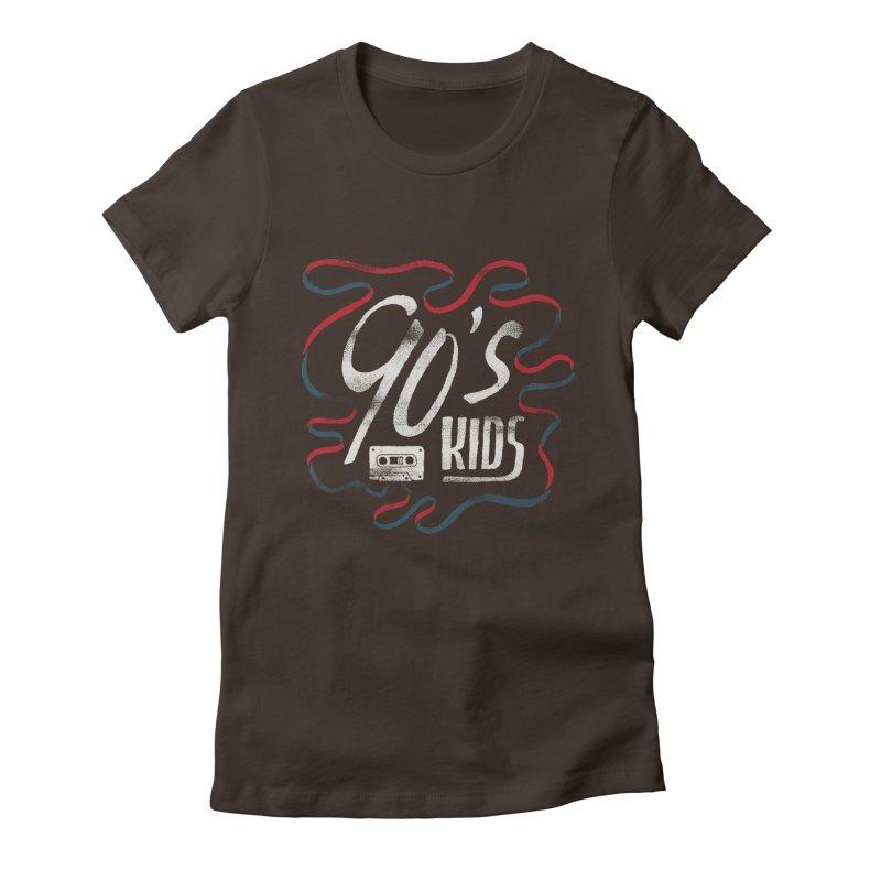 90s Kids Women's Fitted T-Shirt by Tatak Waskitho