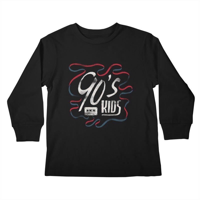 90s Kids Kids Longsleeve T-Shirt by Tatak Waskitho