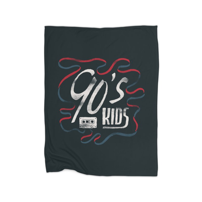 90s Kids Home Fleece Blanket Blanket by Tatak Waskitho