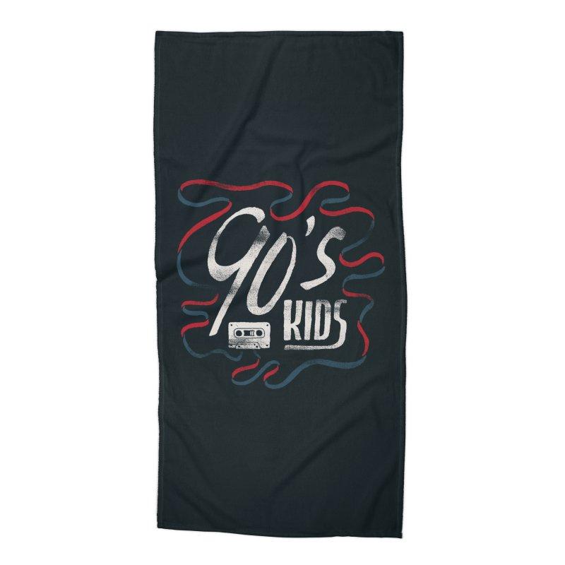90s Kids Accessories Beach Towel by Tatak Waskitho