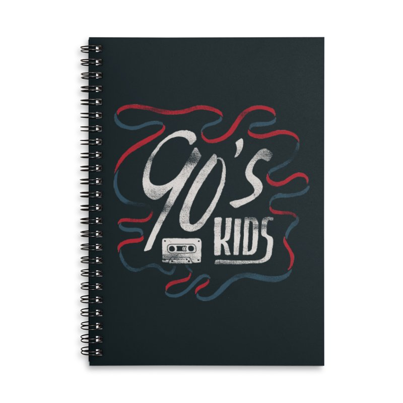 90s Kids Accessories Lined Spiral Notebook by Tatak Waskitho