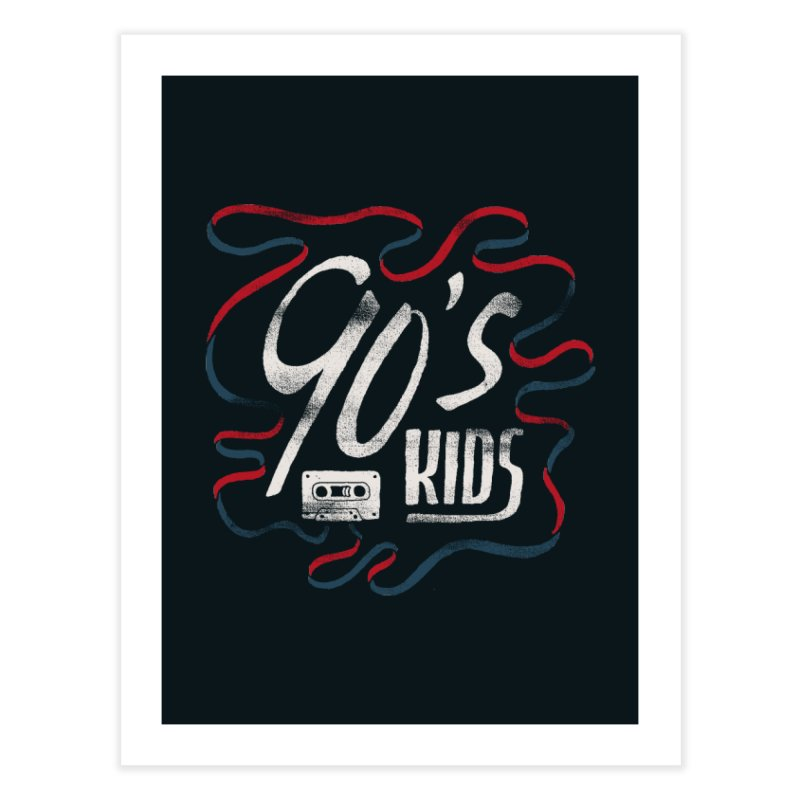 90s Kids Home Fine Art Print by Tatak Waskitho