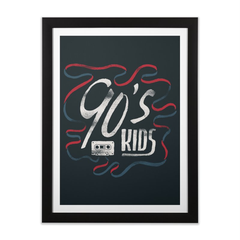 90s Kids Home Framed Fine Art Print by skitchism's Artist Shop